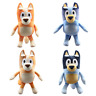 Anime TV Bluey Bingo Mom Dad Cartoon Plush Toy Soft Stuffed Doll 28CM Kids Gift