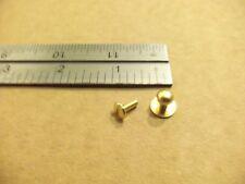 Medium Screwback Solid Brass Button Studs Sam Browne