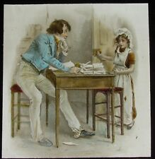 Glass Magic Lantern Slide DICK SWIVELLER & THE MARCHIONESS C1927 CHARLES DICKENS