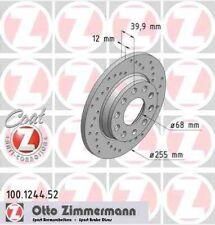 Disque de frein arriere ZIMMERMANN PERCE 100.1244.52 AUDI A4 Avant 2.7 TDi 163ch