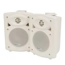 "2 x QTX QR5W White 5"" 40W Powered Active Studio Monitor Speaker + Bracket + Lead"