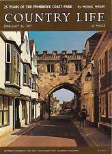 Country Life Magazine Pembroke Park  24 February 1977 Birthday Gift Born in 1977