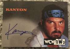 1998 Topps WCW NWO Kanyon Wrestling Autograph Auto Trading Card WWE