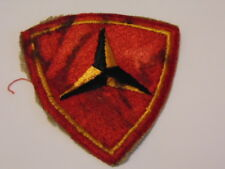 US NAVY INSIGNE 39-45  PATCH WW2 ? US MARINE CORPS 3RD DIVISION PATCH