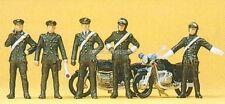 H0 Preiser 10175 Carabinieri, 2 Motorräder. Figuren OVP