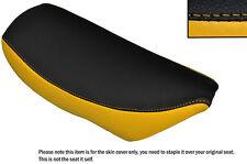 YELLOW & BLACK CUSTOM FITS SUZUKI TR 50 STRET MAGIC LEATHER SEAT COVER