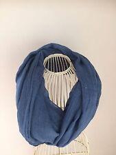 Puro Algodón Suave Largo Infinito Redecilla en Azul BNWT RRP £ 20
