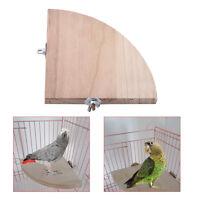 Plataforma de soporte de jaula de pájaros Estante de ventilador de madera