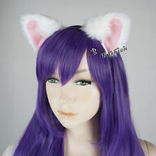Black/White/Red/Brown Cat Ears Headband Anime Cosplay Costume Hair Accessory