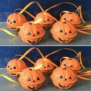 1/5/10pcs Metal Bell Halloween Pumpkin Head Bells Tree Decals Hanging Decoration