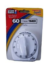 Lux Minder CP2428-59 60-Minute Cooking Timer, White