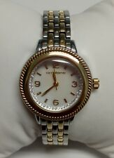 B043 Jcpennys Liz Claiborne Watch gold/silver tone pearl/shell face