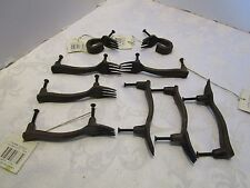 "CAST IRON FORKS SET 7 DOOR HANDLES 2 DRAWER PULLS total = 9 Pcs New 4½"" long"