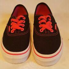 VANS Shoes- Black with Pink Trim - Child Size UK 12 / EU 30.5