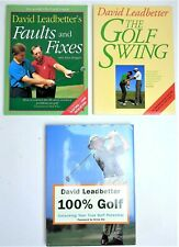 David Leadbetter Lot 3 Books Faults & Fixes Golf Swing 100% Golf Improve Game