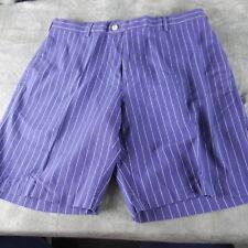 NWOT Peter Millar Linen/Cotton Blend Pinstripe Shorts NAVY  34 Waist $115 ANB