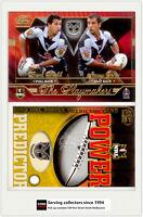 2005 Select NRL Power Predictor Card + Playmaker PM14 B. WEBB / S . JONES