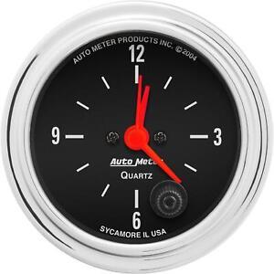 AutoMeter 2585 Traditional Chrome Quartz Clock Gauge, 2-1/16 Inch
