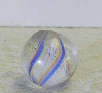 #12820m Vintage German Handmade Latticino Swirl Marble .57 Inches