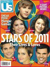 Us Magazine Teen Stars Justin Bieber Selena Gomez Zac Efron Emma Watson 2011