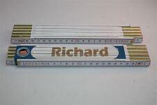 Doppio Metro con Nome RICHARD Incisione Laser 2 Metri Qualità da Artigiano