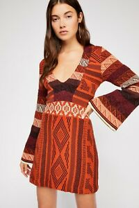 New Free People Patchwork Sweater Dress Size Small MSRP: $198