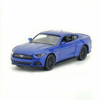 1:36 Ford Mustang GT 2015 Model Car Diecast Toy Vehicle Pull Back Blue with Box