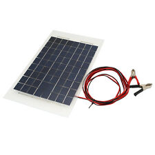 18V 10W Solar Charger Panel Portable Battery Pack for Car W/Crocodile Clips