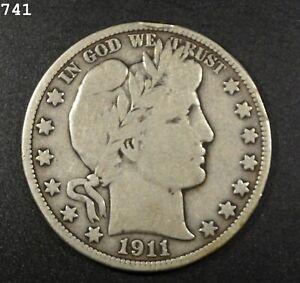 """1911-D Barber Half Dollar """"VG/F"""" *Free S/H After 1st Item*"""