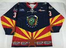 OHSO Hopheads Hockey Jersey Blue #33 Athletic Knit Club Size L Beer Brewery
