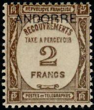 "ANDORRE FRANCAIS STAMP TIMBRE TAXE N°14 "" TIMBRE DE 1927-31 2F "" NEUF xx TTB"