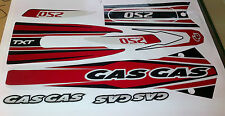 GasGas TXT Edition 2000 -2003  Complete decal / sticker  set Thick MX Vinyl.