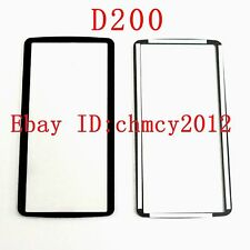 Top Outer LCD Display Window Glass Cover (Acrylic)+TAPE For NIKON D200 Repair