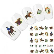 Cavallo tatuaggio unghie Sticker adesivi HORSE NAIL ART UNGHIE