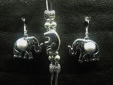 Ohrhänger + Armband, Schmuckset, Tibet Silber, Elefant, Edel, Silber, neu