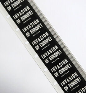 Vintage B/W Sound 400' 16mm MGM Film Invasion Europe Great Allied Assult D-Day
