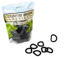 10 - Country Brook Design® 1 Inch Heavy Welded D-Ring with Black Matte Finish