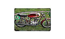 Ducati Formula3 Racer Motorbike Sign Metal Retro Aged Aluminium Bike