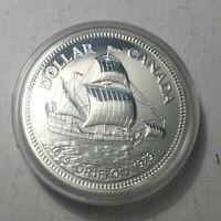 1979 Canada Silver Specimen Dollar Coin, BU UNC