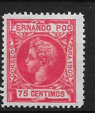 FERNANDO POO  EDIFIL  129*  BIEN CENTRADO  CAT 23  EUROS