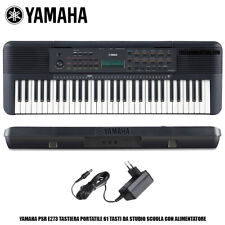YAMAHA PSR E273 TASTIERA MUSICALE PIANOLA CON SUONI PIANOFORTE + ALIMENTATORE
