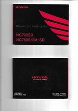 Manual del propietario HONDA NC700SD NC750S/SA/SD 2015  ENVIO GRATIS EN EL MUNDO