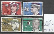 5594-SUIZA 1977 Nº1017/20 YVERT 4,75€,USADOS,AVIACION AVIONES,GLOBOS.