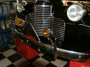 Chrome case amber Fog Light / fog Lamps. For Classic Cars 12 volt , 4 Inch Bulb