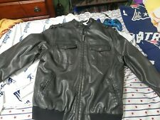 Heritage Black Men's Leather Jacket Xl In Good Condition!