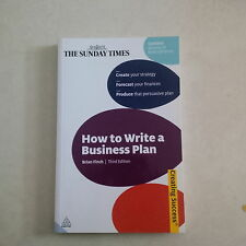 Business Plan   How to Write  One Finch, Brian  UK FREE POST