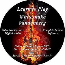 Whitesnake Vandenberg Guitar TAB Lesson Software CD 72 Songs!