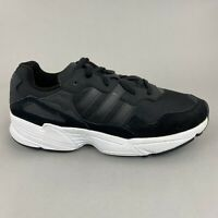 Adidas Yung 96 Torsion Black Suede Mash Lace Up Trainers Sneakers Shoe UK10