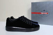 New  sz 9.5 / 40 Prada Sport Blue Velvet Cap Toe Womens Sneaker Lace up Shoes