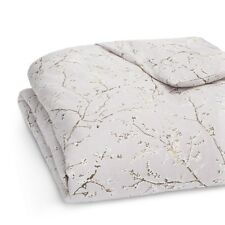 Vera Wang Bedding Winter Blossoms Cotton QUEEN Duvet Cover Medium Purple F370